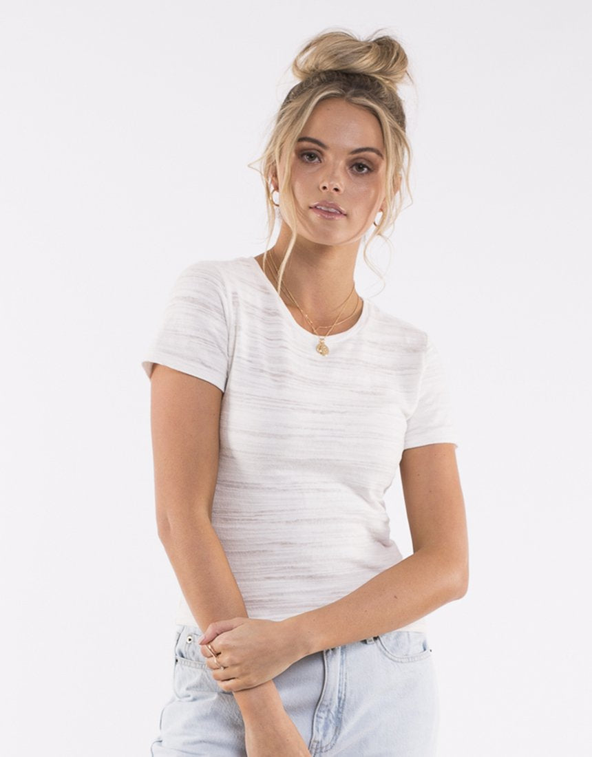 All About Eve Audrey Knitted Tee - White