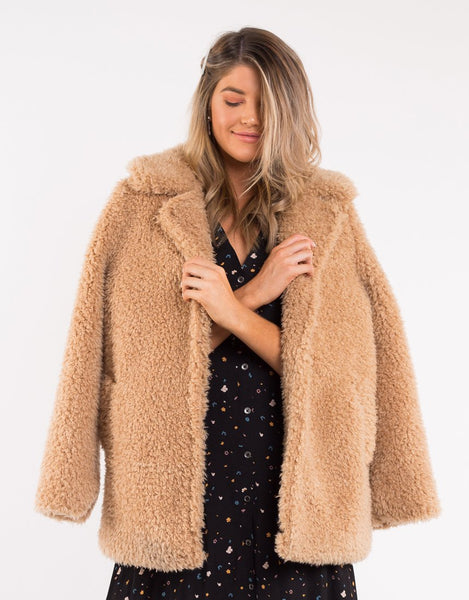All About Eve Crystalised Jacket - Tan