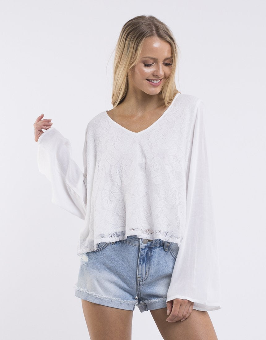 All About Eve Delilah Top - White
