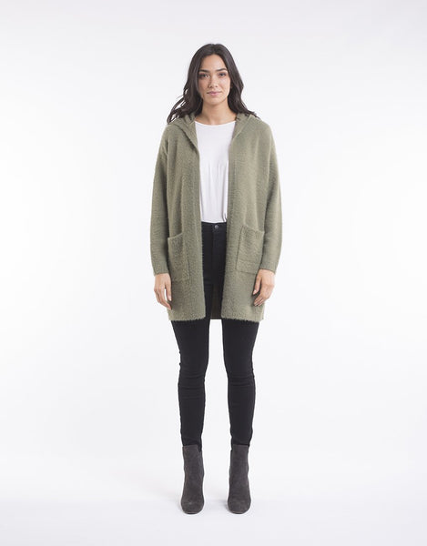 All About Eve Emilia Longline Cardi - Khaki