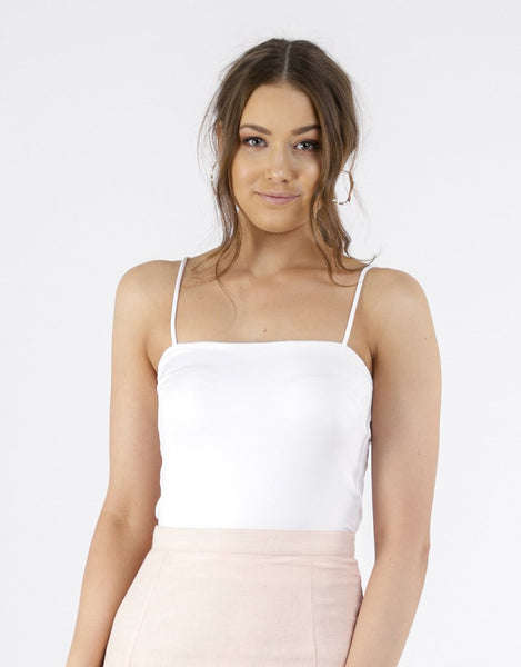 All About Eve Eloise Cami - White