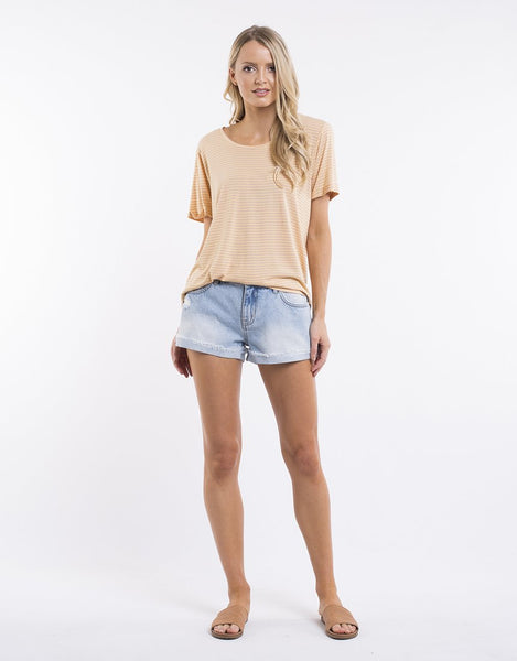 All About Eve Lyla Stripe Tee - Soft Rose Golden