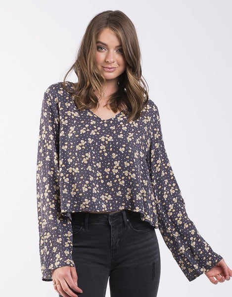 All About Eve Polka Dot Posy Top