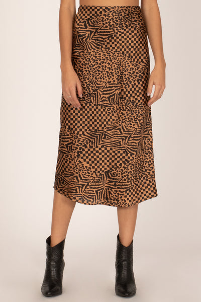 Amuse Society Encore Midi Woven Skirt - Black