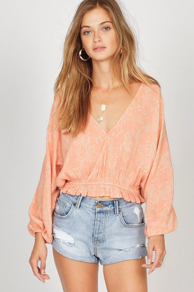 Amuse Society Idyllic Woven Top - Pink Haze
