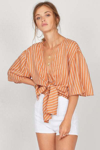Amuse Society Knot Your Girl Woven Top - Hazel