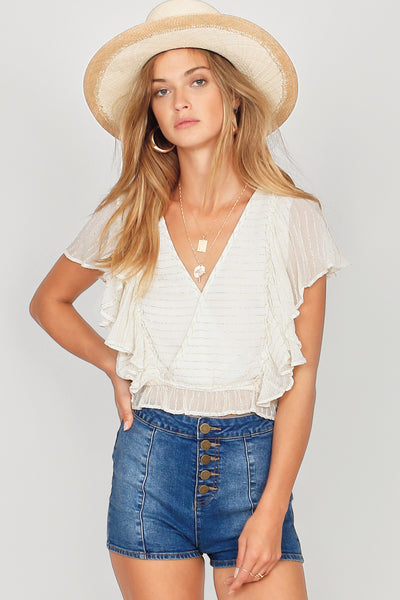 Amuse Society Sunbeam Woven Top - Casablanca