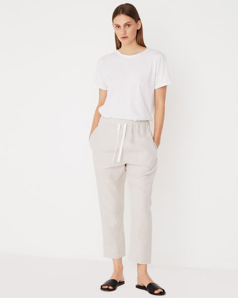 Assembly Label Anya Linen Pant - Oat Marle