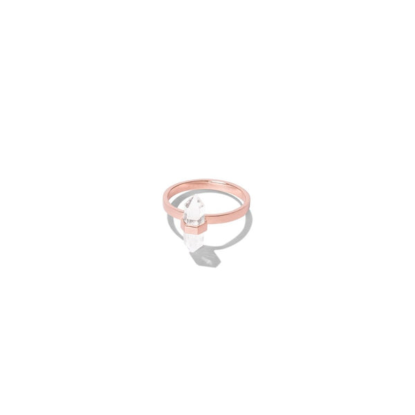 Krystle Knight Aqua Ice Ring - Rose Gold