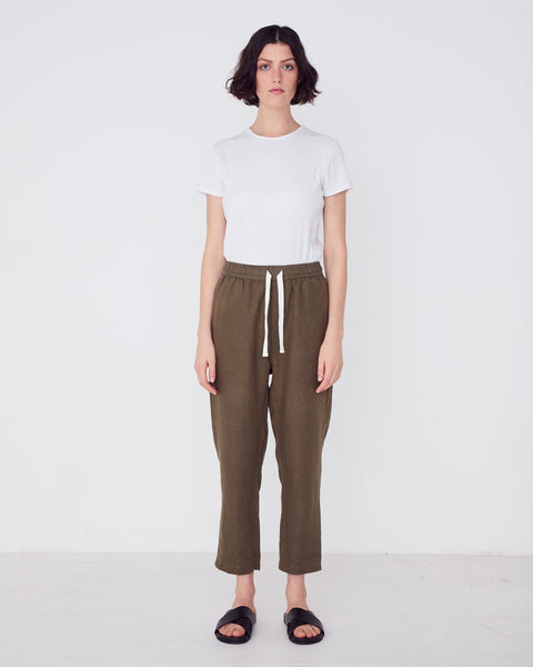 Assembly Label Anya Linen Pants - Thyme