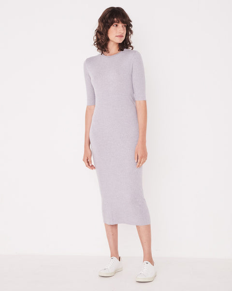 Assembly Label Ella Midi Dress - Grey Marle