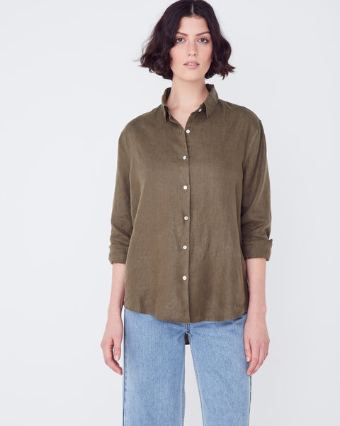 Assembly Label Xander Long Sleeve Shirt - Thyme