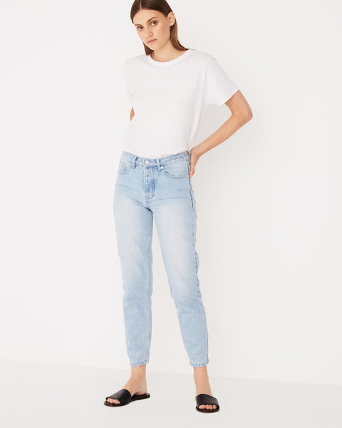 Assembly Label High Waist Rigid Jean - Sea Blue