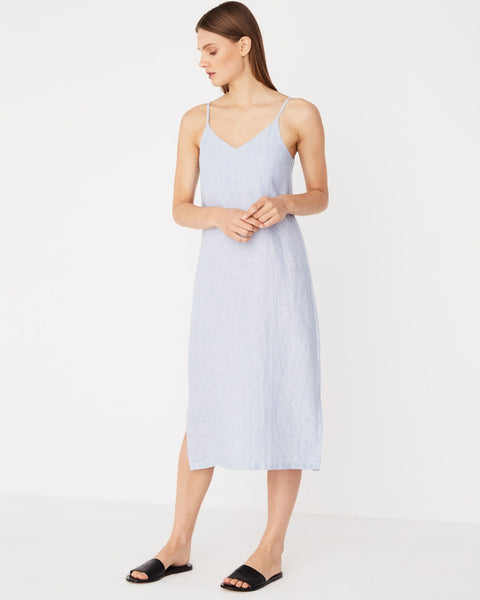 Assembly Label Linen Slip Dress - Bridge Stripe