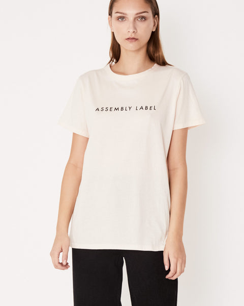 Assembly Label Logo Tee - Pale Pink