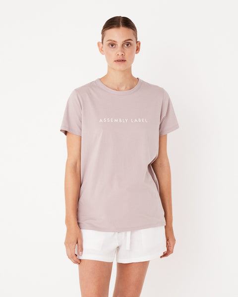 Assembly Label Logo Tee - Fawn
