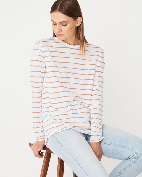 Assembly Label Bay Long Sleeve Tee Sandstone Stripe