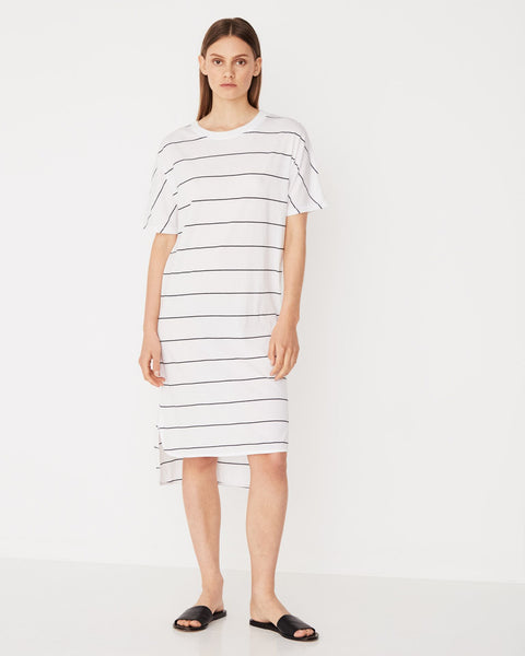 Assembly Label Oversized Tee Dress - Distance Stripe