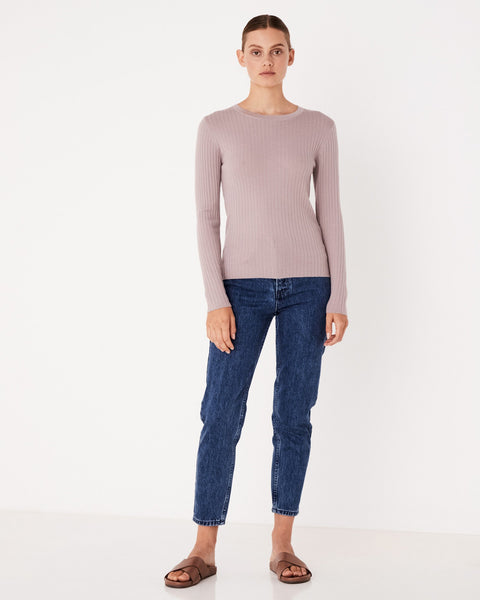Assembly Label Rib Long Sleeve Knit - Fawn
