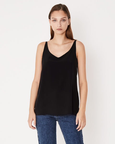 Assembly Label Silk Deep V Cami - Black