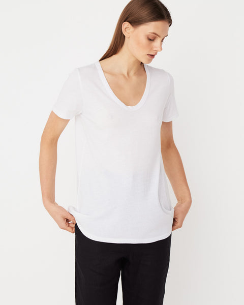 Assembly Label Soft V Tee - White
