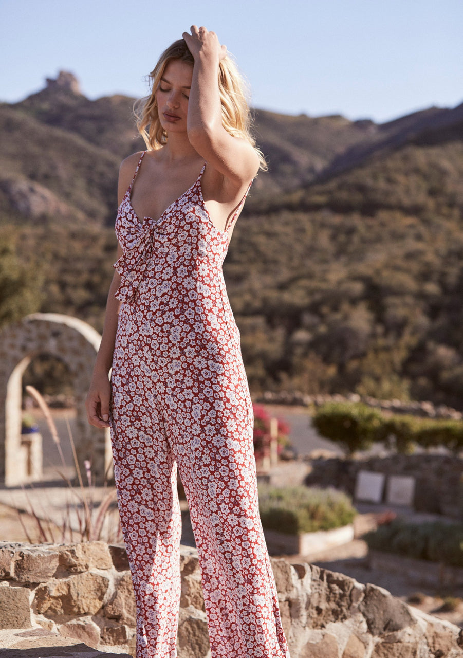 Auguste Mila Palms Jumpsuit - Red