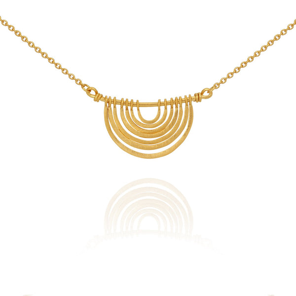 Temple Of The Sun Baye Necklace- Gold