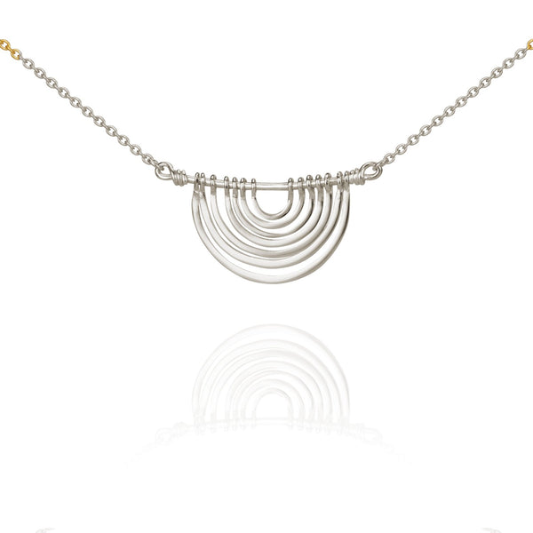 Temple Of The Sun Baye Necklace Silver