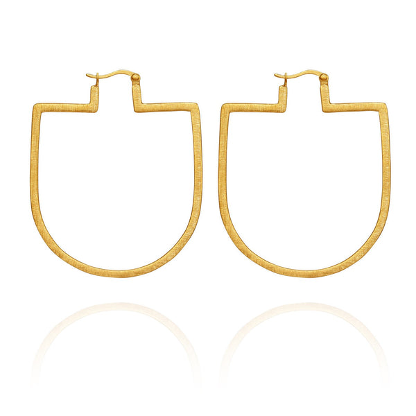 Temple Of The Sun Bea Earrings - Gold