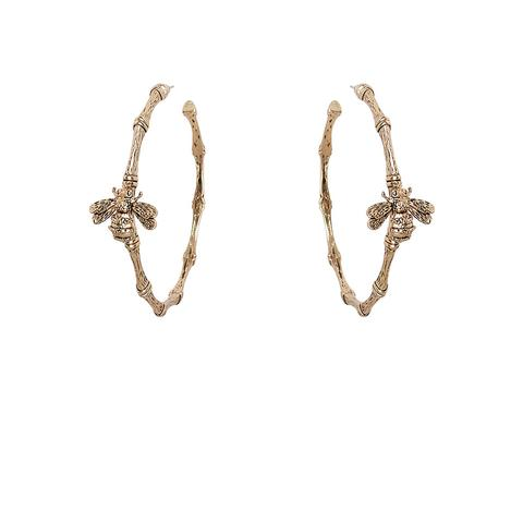 Kitte Bambu Hoop Earrings - Gold