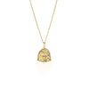La Luna Rose 'St Assisi' Patron Saint of Animals & the Environment Necklace - Gold