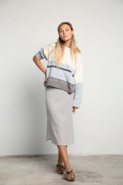 Lilya Dina Knit- Blue Grey