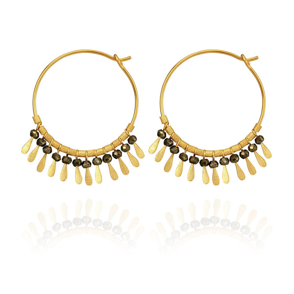 Temple Of The Sun Elli Earrings- Gold