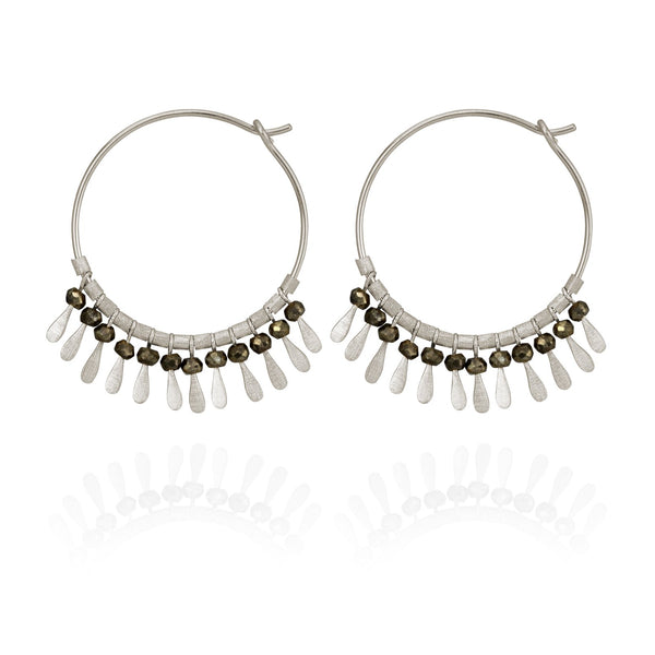 Temple Of The Sun Elli Earring - Silver