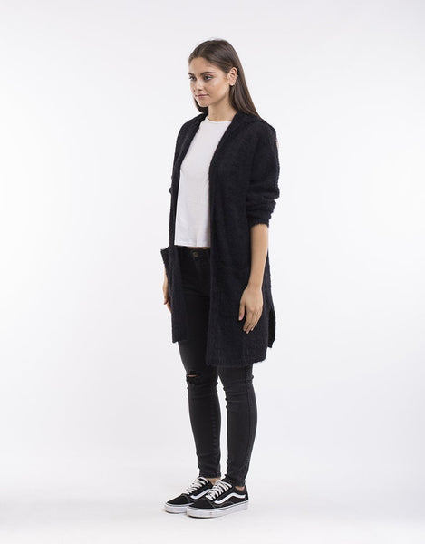 All About Eve Emilia Longline Cardi - Black