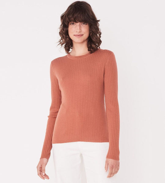 Assembly Label Ella Long Sleeve Knit - Auburn