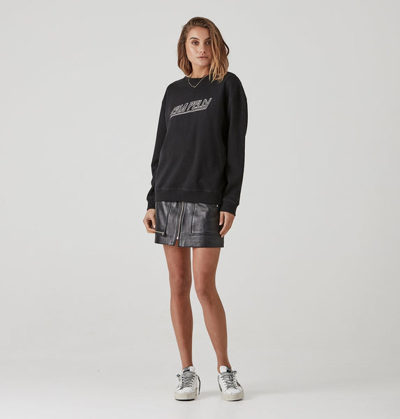 Ena Pelly 80's Block Sweat - Faded Black