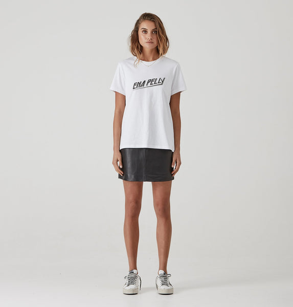 Ena Pelly 80's Block Tee - White