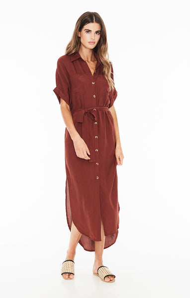 Faithfull The Brand Faretta Shirt Dress