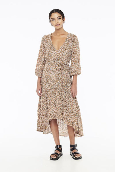 Faithfull Matilda Peasant Dress - Mathiola Floral Print