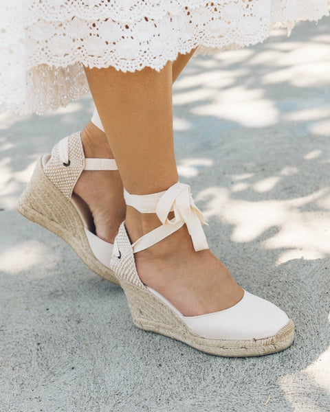 Soludos Tall Wedge- Linen
