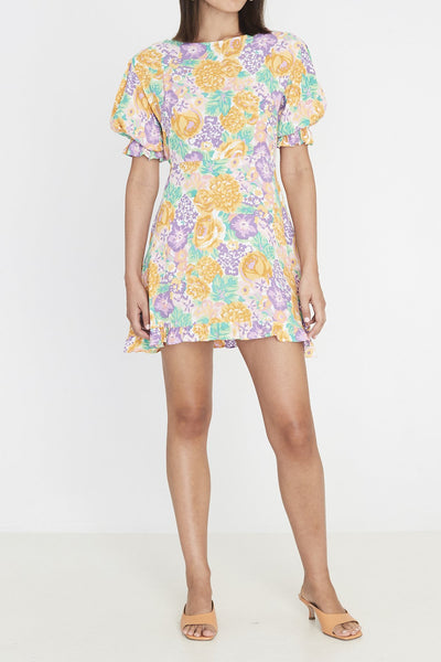 Faithfull Florence Mini Dress - Ade Floral Print