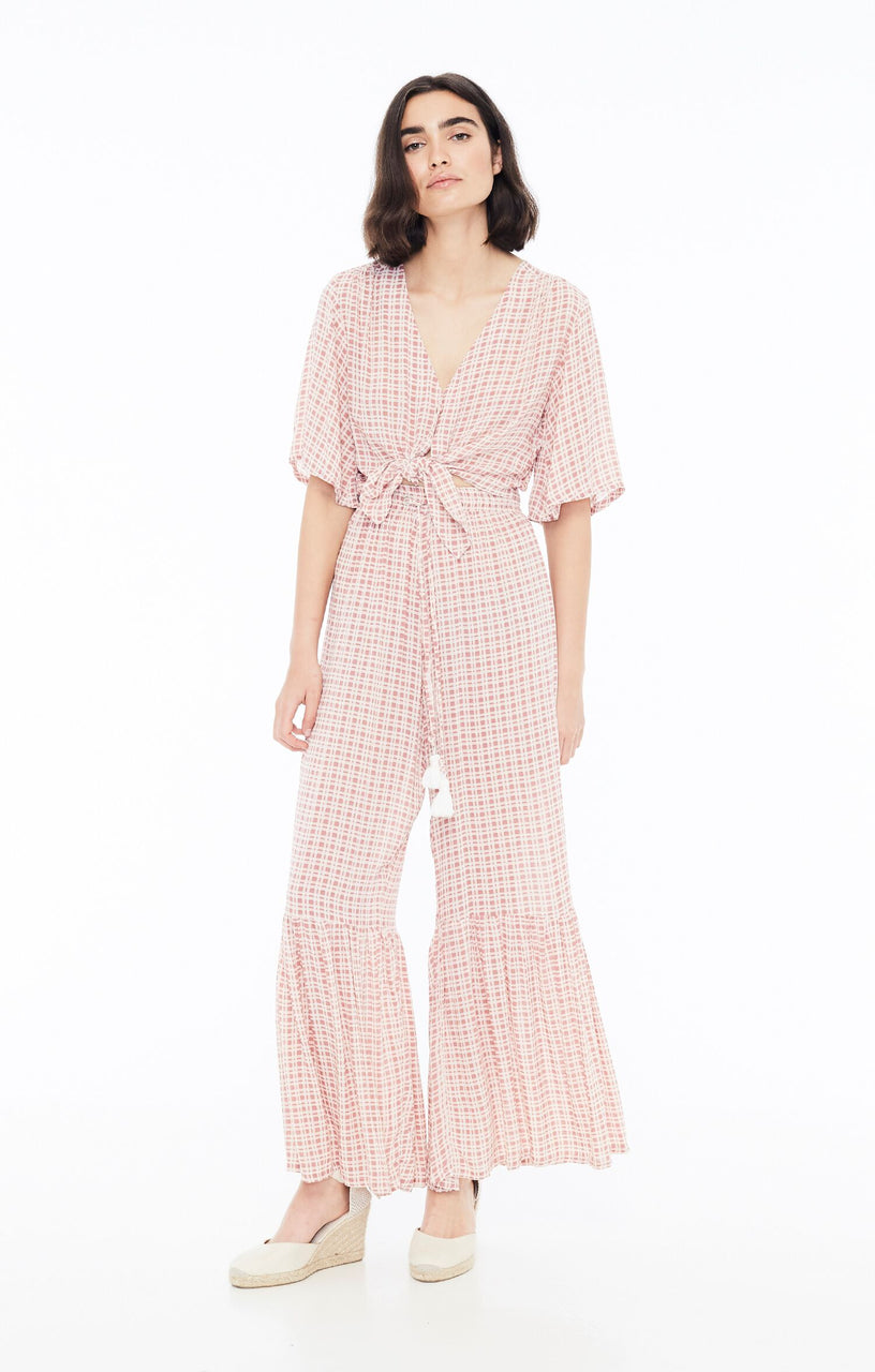 Faithfull The Brand Bisou Pants - Emilinah Check Print