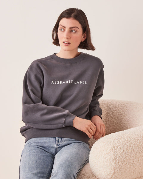 Assembly Label Logo Fleece - Charcoal