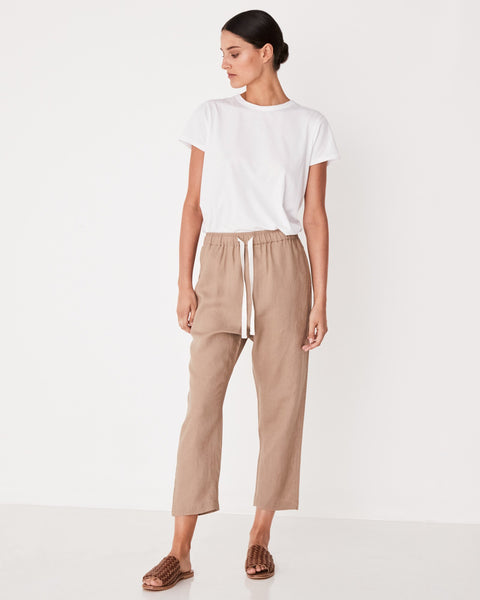 Assembly Label  Anya Linen Pant - Dune