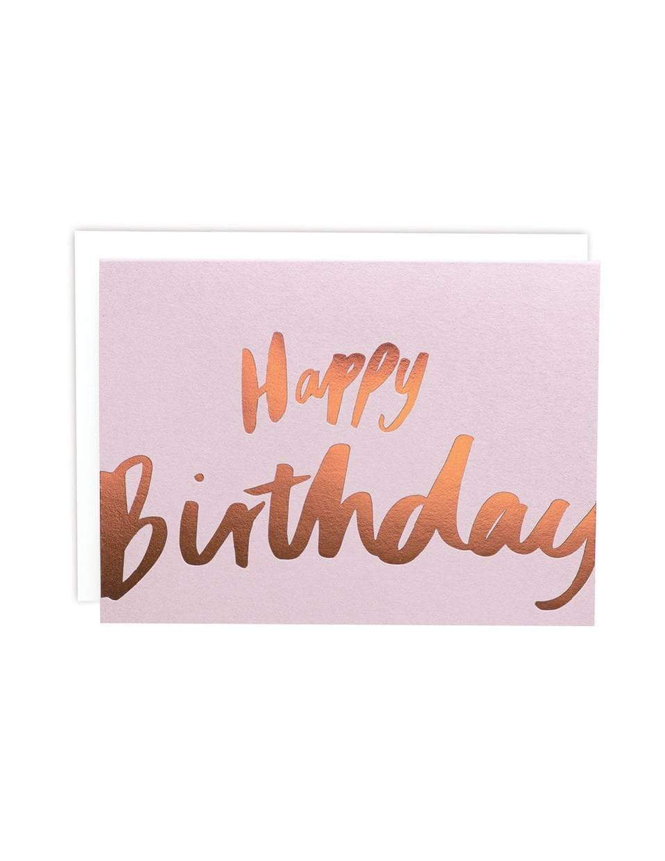 Happy Birthday Big Letters Blush Foiled Card