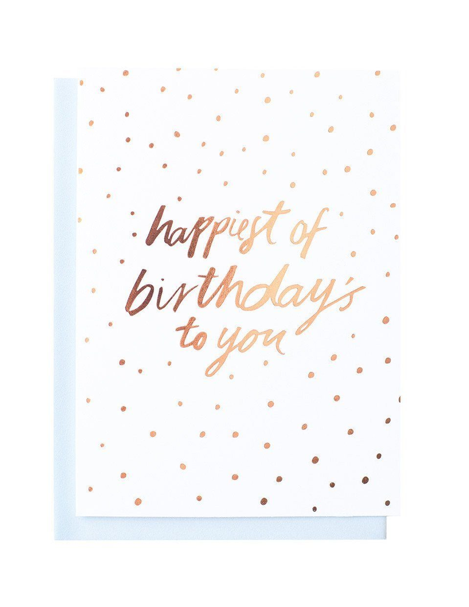 Happy Birthday Sweet Foiled Card