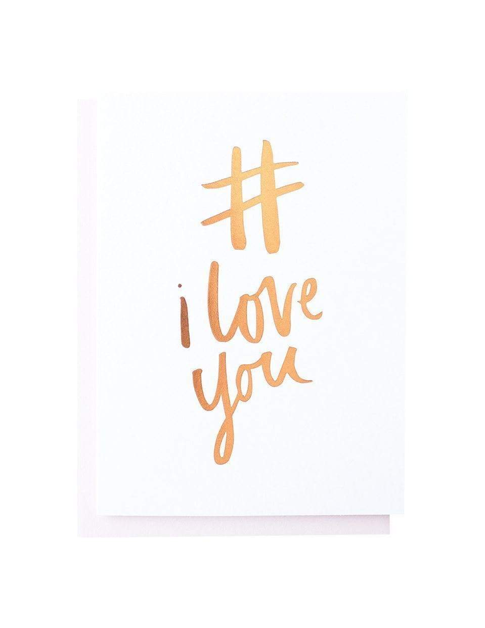 # I Love You Foiled Card