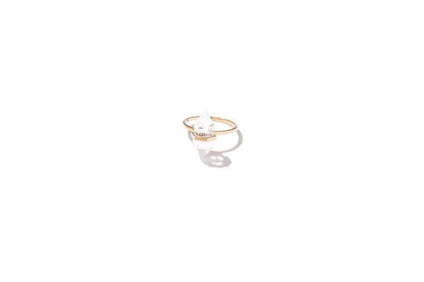 Krystle Knight Paradise Quartz Ring - Brass