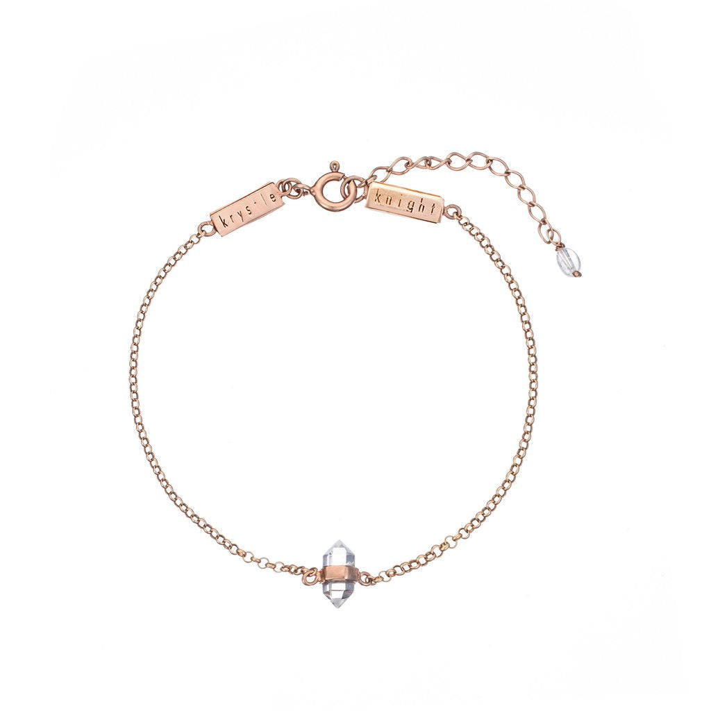 Krystle Knight Calming Quartz Bracelet - Rose Gold